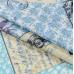 Бязь набивная, Франция, голубой, плотность 120, 50х55 см, хлопок 52%