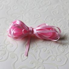 Атласная лента розового цвета, ширина 3 мм, длина - 5 м.