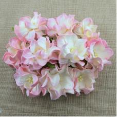 Декоративный цветок гардении 60 мм BABY PINK/ IVORY, 1 шт.
