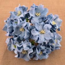 Декоративный цветок гардении 60 мм BABY BLUE, 1 шт.