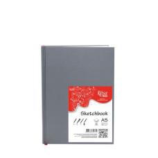 Блокнот скетчбук, белый А5 100 г/м2, 96 л. Rosa Studio