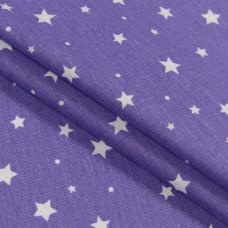 Бязь, Звезды, фиолетовый, 50х50 см, хлопок 100%, 140 г/м²