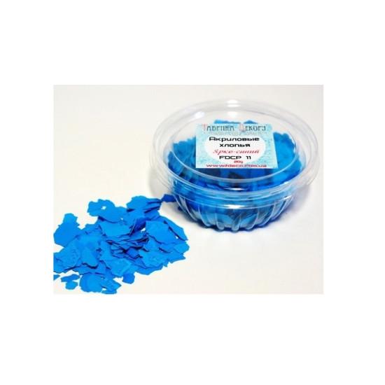 Акриловые хлопья Ярко-голубой, 20 г от Фабрика Декора