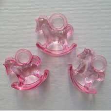 """Акриловая подвеска """"Лошадка"""" розового цвета, 29х27х10 см"""