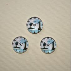 Стеклянный кабошон Лондон, 1 шт, размер 11 мм
