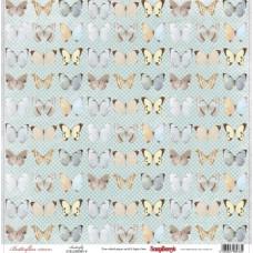 Односторонняя бумага Бабочки 30х30 см от ScrapBerry's