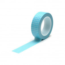 Бумажный скотч Blue Grid 9 м, 15 мм от компании Queen and Co