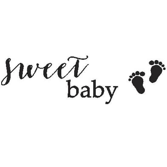 Акриловый штамп sweet baby 6.8*2см от ScrapStudio