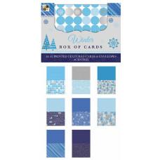 Набор заготовок для открыток с конвертами Winter 40 шт. от DCWV