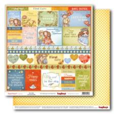 Двусторонняя бумага Мальчик и девочка Ты и я АНГЛ 30,5х30,5 см от ScrapBerry's