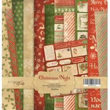 Набор односторонней бумаги  Christmas Night 20х20см от Scrapmir