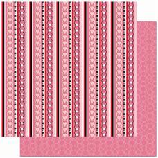 Двусторонняя скрапбумага Crush Stripe от Bo Bunny