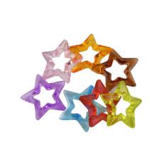 Набор разноцветных украшений Звезды, 33 мм, 5 шт.