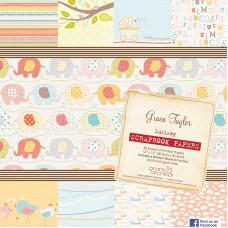 Набор бумаги  Lullaby, 30*30 см ,15 листов от Grace Taylor