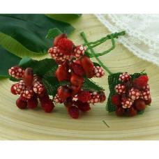 Букет ягодок красный 20 мм, 1 шт.