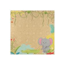 Бумага Jungle Friends, размер 30*30, 1 шт от Paper House