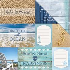 Двусторонняя бумага Seashore Beach Tags, размер 30*30, 1 шт от Paper House