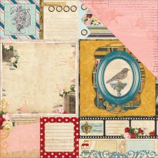 Двусторонняя бумага Juliet Nostalgia 30х30 см от Bo-Bunny