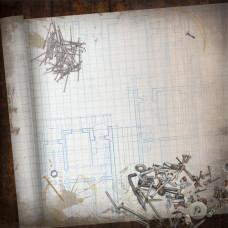 Бумага Blueprint, размер 30*30, 1 шт от Paper House