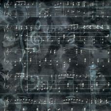 Бумага Charcoal Music, размер 30*30, 1 шт от Paper House