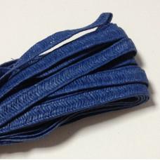 Бумажный плетеный шнур, 8 мм, 90 см, цвет синий