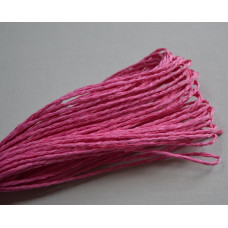 Бумажный шнур однотонный розовый, 1,5 мм, 1 м