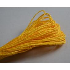 Бумажный шнур однотонный желтый, 1,5 мм, 1 м