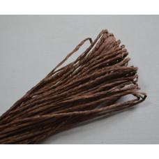 Бумажный шнур однотонный коричневый, 1,5 мм, 1 м