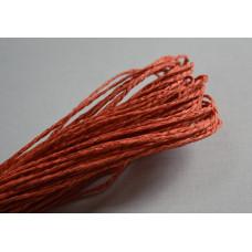 Бумажный шнур однотонный терракотовый, 1,5 мм, 1 м