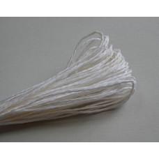 Бумажный шнур однотонный белый, 1,5 мм, 1 м