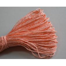 Бумажный шнур однотонный персиковый, 1,5 мм, 1 м