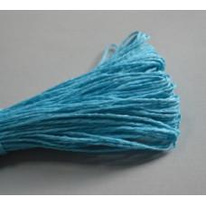 Бумажный шнур однотонный бирюзовый, 1,5 мм, 1 м