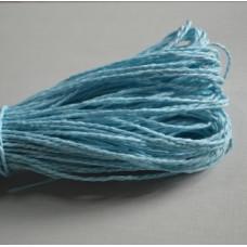 Бумажный шнур однотонный голубой, 1,5 мм, 1 м