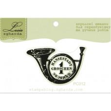 """Акриловый штамп """"Почтовая печать"""", размер 4,1*2,6 см"""