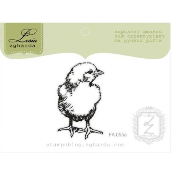 """Акриловый штамп """"Цыпленок"""", размер 2,7*4,4 см"""