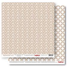 Двусторонняя бумага Класика Кофе со льдом 30,5х30,5 см от ScrapBerry's