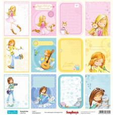Двусторонняя бумага Подружки  Карточки 1,  30,5х30,5 см от ScrapBerry's