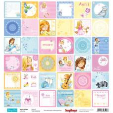 Двусторонняя бумага Подружки Карточки 2, 30,5х30,5 см от ScrapBerry's