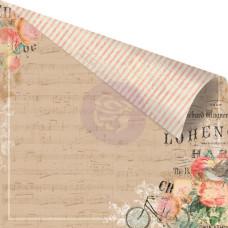Двусторонняя бумага 30х30 Something Blue - Love Melodies от Prima