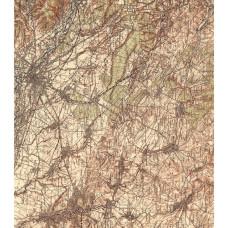 Бумага для декупажа Vintage Map 2,1 лист, 35*40 см от Craft Consortium