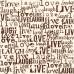 Бумага Chocolate & Ivory Live, Love, Laugh, 30*30 см от Canvas Corp