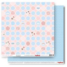 Двусторонняя бумага Это любовь, 30,5*30,5, 190 г/м2 от ScrapBerry's