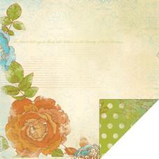 Двусторонняя бумага Wild Violets 30х30 от Kaisercraft