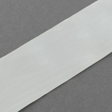 Атласная лента белая, ширина 40 мм, 1 м