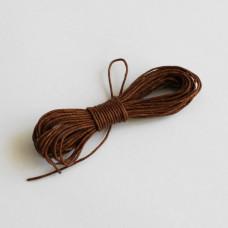 Вощеный шнур коричневого цвета 5 м