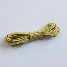 Вощеный шнур бледно-желтого цвета 5 м