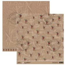 Бумага для скрапбукинга The Day Before Christmas 30*30 см от Magnolia