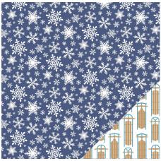 Двусторонняя бумага Snowflakes 30*30 см от American Crafts