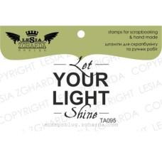 "Акриловый штамп ""LET YOUR LIGHT SHINE"", 2,9*3,2 см от Lesia Zgharda"
