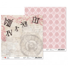 "Двусторонняя бумага ""Romantic time"" 2, 1 лист , 30*30 см от Rosa"